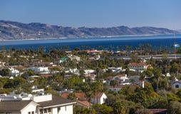 Buildings Coastline Pacific Ocean Santa Barbara California. Orange Roofs Buildings Coastline Pacific Ocean Santa Barbara California stock image