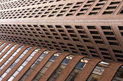 Buildings collide Royalty Free Stock Images