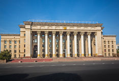 Buildings colonnade  architecture Almaty Kazakhstan Stock Image