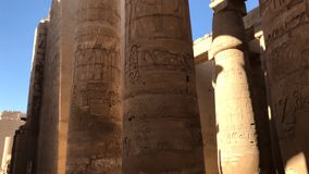 Buildings and columns of ancient Egyptian megaliths. Ancient ruins of Egyptian buildings. Buildings and columns of ancient Egyptian megaliths. Ancient ruins of Stock Photography