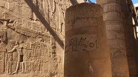 Buildings and columns of ancient Egyptian megaliths. Ancient ruins of Egyptian buildings. Buildings and columns of ancient Egyptian megaliths. Ancient ruins of Stock Images