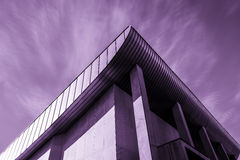 Buildings in concrete. Buildings in the sci-fi sensation built in concrete, lovely sky early morning Stock Photos