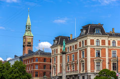 Buildings in Copenhagen city center - Denmark Stock Photography
