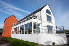 Buildings in copenhagen suburb. The buildings in copenhagen suburb morning Royalty Free Stock Photos