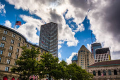 Buildings at Copley Square, in Boston, Massachusetts. Royalty Free Stock Photos