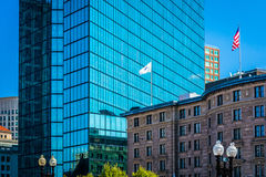 Buildings at Copley Square, in Boston, Massachusetts. Stock Photography