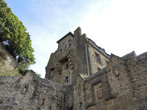 Buildings in courtyard of mont saint-michel abbey Royalty Free Stock Photography