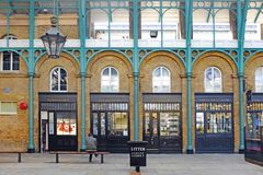 Buildings in covent garden in london stock images