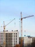 Buildings and cranes Royalty Free Stock Photography