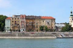 Buildings on Danube riverside Budapest Stock Photo