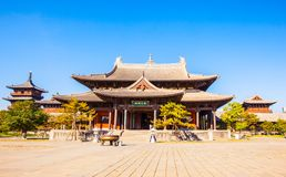 Buildings of Datong`s Huayan temple. royalty free stock photo