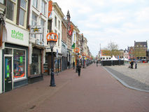 Buildings Delft. Stores and shops at the old square of Delft, The Netherlands Royalty Free Stock Image