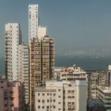 Buildings densely spaced in Hong Kong Royalty Free Stock Photos