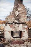Buildings destroyed by bushfire Royalty Free Stock Image