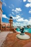 Buildings detail of Altlantis Bahamas Stock Photo