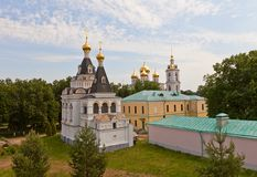 Buildings of Dmitrov kremlin, Russia Royalty Free Stock Photography