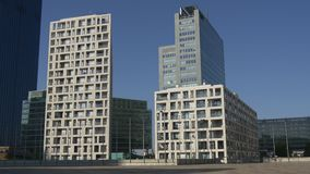 Buildings of Donau City Living stock video
