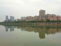 Buildings on Dongpo Peninsula stock images