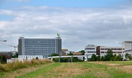 Buildings Dortmund University's Mathetower royalty free stock images