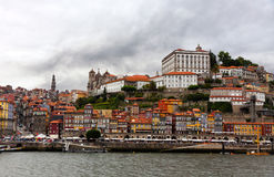 Buildings at Douro river embankment in Porto city Royalty Free Stock Photography