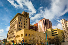 Buildings in downtown Albuquerque, New Mexico. Royalty Free Stock Image