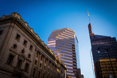 Buildings in downtown Baltimore, Maryland. Royalty Free Stock Photo