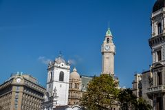 Buildings in downtown Buenos Aires near Plaza de Mayo - Buenos Aires, Argentina stock photography