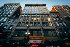 Buildings at Downtown Crossing, in Boston, Massachusetts. Stock Photo