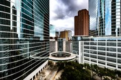 Buildings in downtown Houston royalty free stock photos