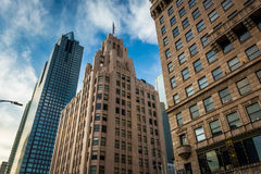 Buildings in downtown Los Angeles, California. Royalty Free Stock Image