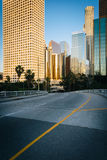 Buildings in downtown Los Angeles and 4th Street, in downtown Lo Stock Photography