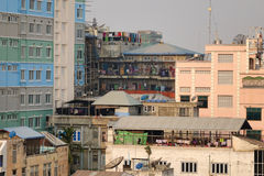 Buildings at downtown in Mandalay, Myanmar Stock Photography