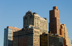 Buildings Downtown in Manhattan stock images