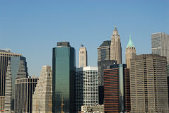Buildings downtown in Manhattan Royalty Free Stock Photos