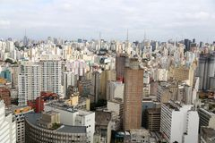 Buildings in downtown sao paulo Brazil Royalty Free Stock Photo