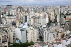 Buildings in downtown sao paulo Brazil Stock Photography