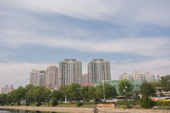 Buildings of downtown Tianjin , China. Stock Photography