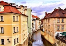 Buildings in Dresden. The view of Buildings between a canal in Dresden, Germany Stock Photos