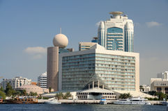 Buildings at Dubai Creek Royalty Free Stock Photo