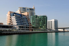 Buildings at Dubai Marina Stock Photos