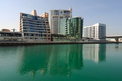 Buildings at Dubai Marina Royalty Free Stock Photography