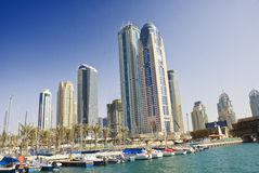 Buildings at the Dubai Marina Royalty Free Stock Photo