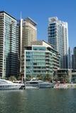Buildings Dubai Marina Stock Photo