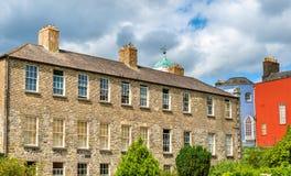 Buildings at Dublin Castle seen froom Dubh Linn Royalty Free Stock Photos