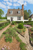 Buildings on Duke of Gloucester Street in Colonial Williamsburg Stock Images