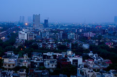Buildings at dusk in Noida India Royalty Free Stock Image