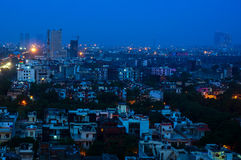 Buildings at dusk in Noida India Royalty Free Stock Images