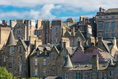 Buildings in Edinburgh. Detail of some old buildings seen in Edinburgh, Scotland Stock Photography