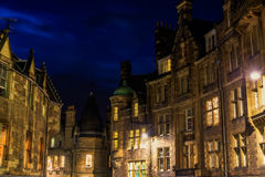 Buildings in Edinburgh at night Royalty Free Stock Images