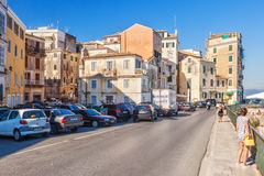 Buildings at embankment of Ionian sea Stock Photo